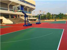 塑胶地板、篮球架