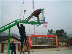 名扬体育-玉林博白新农村建设篮球架安装