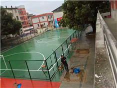 贺州钟山小学硅pu球场