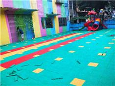 南宁边阳幼儿园室外拼装地板