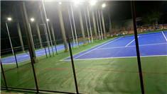 钦州体育中心硅pu塑胶网球场翻新案例