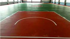 钦州体育馆硅pu篮球场竣工案例
