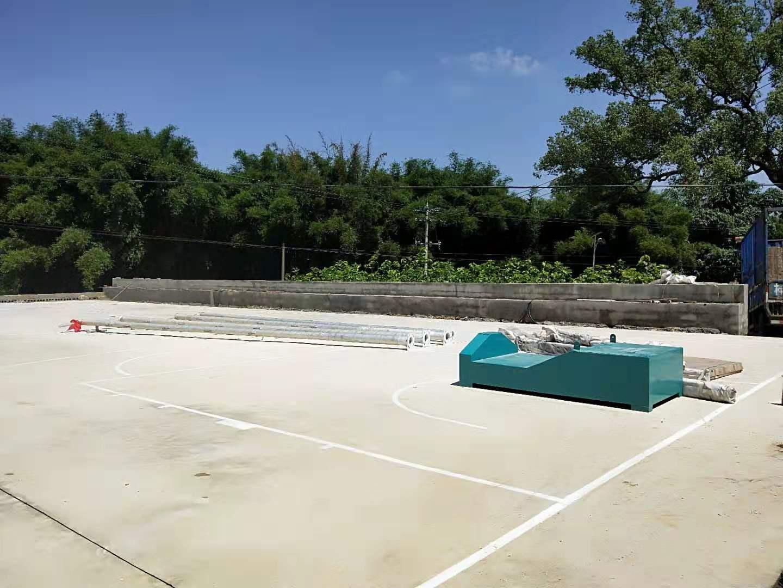 柳州篮球场划线球架安装