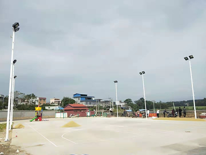武宣县篮球场灯杆安装