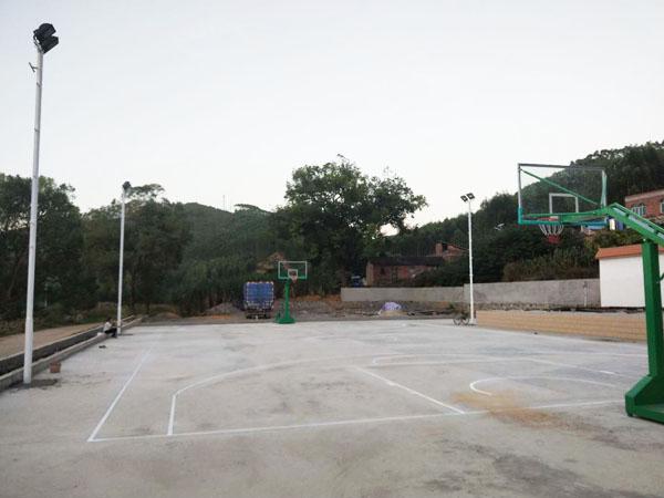 来宾象州妙皇篮球架灯杆安装