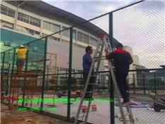 桂林理工大学硅pu球场的围网工程案例