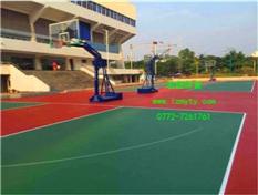 灵川县体育中心户外硅PU塑胶篮球场