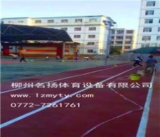 硅pu塑胶球场施工-柳州卫生学校案例