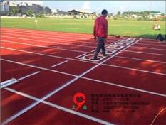 柳江体育中心塑胶跑道施工案例