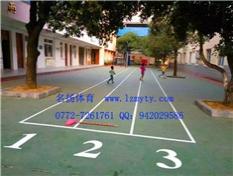 硅PU塑胶地板,桂林理工大学旁边小学完工