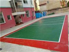 兴安柘园学校硅pu塑胶排球场
