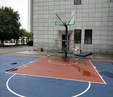 某机关部门埋地式篮球架安装