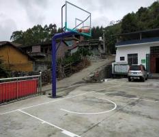 合山埋地式篮球架安装