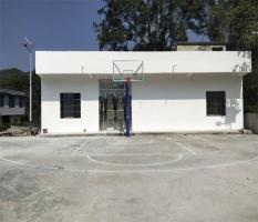 柳州土博镇龙能村篮球架安装