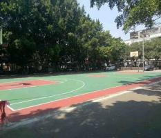柳州林溪小区丙烯酸篮球场