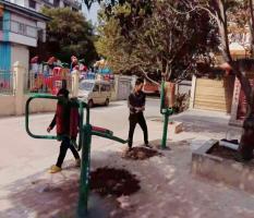 桂林兴安县公安局新国标室外健身路径安装