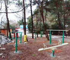 桂林兴安印象老山界村新国标健身器材安装