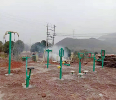 桂林兴安镇自治村委岩口村新国标健身器材安装