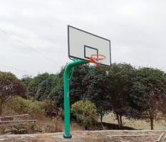 桂林兴安溶江茶源蚂塘村新国标篮球架安装