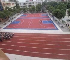 防城港公车镇中学小篮球架安装