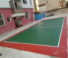 桂林兴安柘园学校硅PU网球场