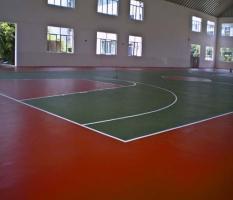 宜州高速收费站体育馆硅PU篮球场