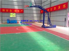 硅Pu塑胶球场+篮球架