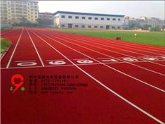 广西柳州柳江 体育中心 塑胶跑道 收工效果图