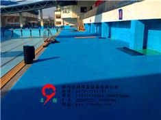 桂林市游泳馆3000平方pvc地板施工