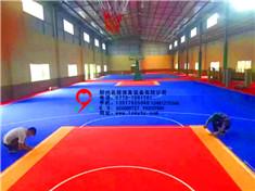 悬浮式拼装地板球场