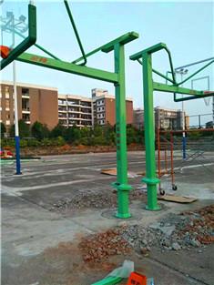 篮球架球场围网施工
