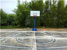 柳州石碑坪移动篮球架安装划线
