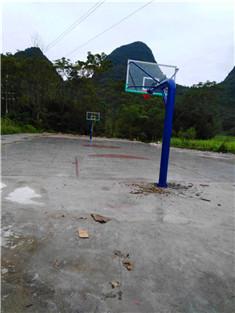 柳州土博埋地式篮球架安装