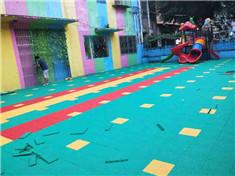 南宁幼儿园拼装地板铺设