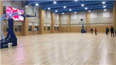 玉林市公安局体育馆建设施工进入收尾阶段