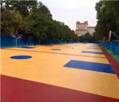室外木纹硅PU篮球场