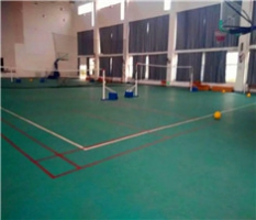 PVC塑胶运动地板球馆