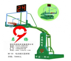广西玉林市博白县电动液压篮球架