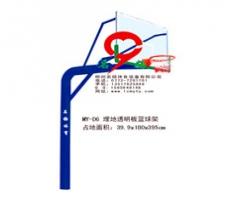广西北海市银海区埋地透明板篮球架厂家直销