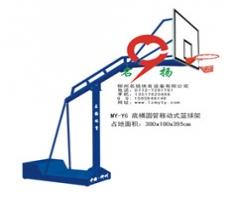 广西厂家直销体育器材-底桶圆管移动式篮球架批发价格
