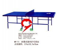 广西贵港桂平市体育器材-室内折叠式乒乓球桌