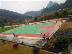 硅pu塑胶球场铺设