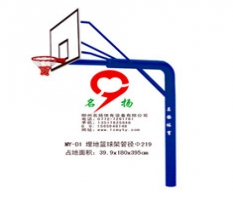 广西河池金江城体育中心埋地篮球架管径219