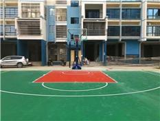厂家专业提供篮球场地铺装