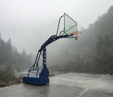 宁夏资源篮球架安装完成
